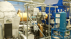 Power plant equipment room