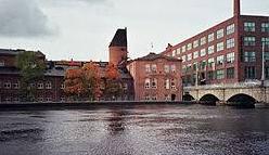 Tammerkoski ja Metsä Boardin Takon kartonkitehdas.