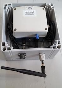 MasLog-25 loggeri, joka mittaa automaattisesti Takon raakaveden sameutta.