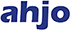 Sininen Ahjo-logo.