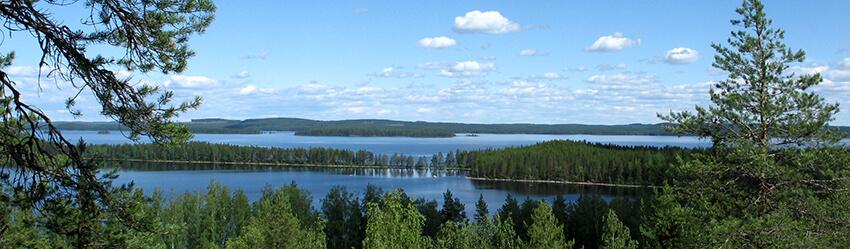 Suomalainen järvimaisema kuva