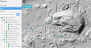 Näyttökuva Pirkanmaan Jätehuollon Masmaps-karttapalvelusta.