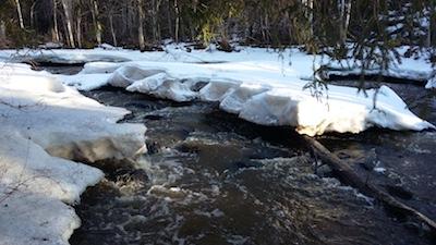 Talvinen jokikuva Sipoosta.