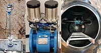 Magneettis-induktiivinen sauva DN500. Magneettis-induktiivinen virtaus-ja painemittari DN125. Magneettis-induktiivinen virtausmittari uuteen kaivoon asennettuna.